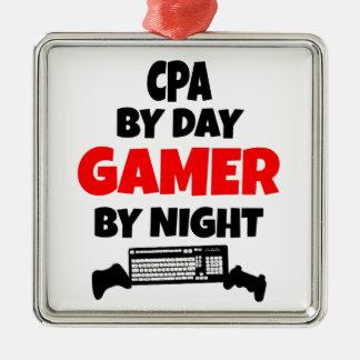 Ornement Carré Argenté Gamer CPA
