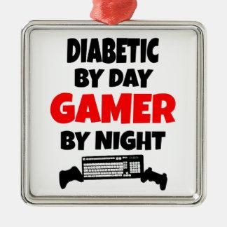Ornement Carré Argenté Gamer diabétique