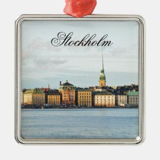 Ornement Carré Argenté Gamla Stan à Stockholm, Suède