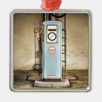 Ornement Carré Argenté gaz-pompe
