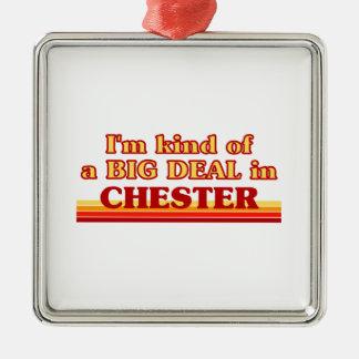 Ornement Carré Argenté Genre d'I´m d'affaire à Chester