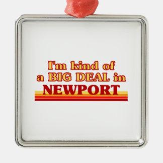 Ornement Carré Argenté Genre d'I´m d'affaire à Newport