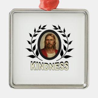 Ornement Carré Argenté gentillesse Jésus