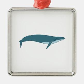 Ornement Carré Argenté Grande baleine