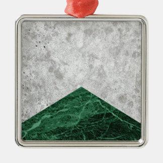 Ornement Carré Argenté Granit concret #412 de vert de flèche