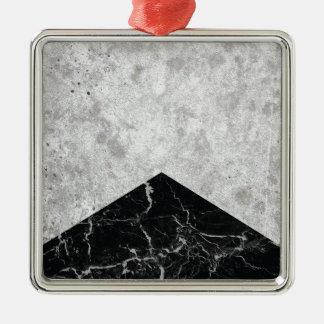 Ornement Carré Argenté Granit concret #844 de noir de flèche