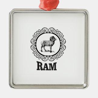 Ornement Carré Argenté guerrier de RAM