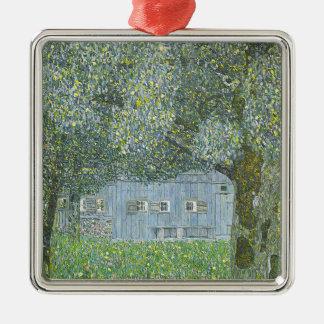 Ornement Carré Argenté Gustav Klimt - Bauerhaus dans la peinture de