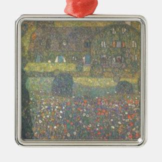 Ornement Carré Argenté Gustav Klimt - maison de campagne par l'art