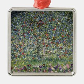 Ornement Carré Argenté Gustav Klimt - peinture de pommier
