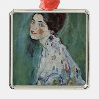Ornement Carré Argenté Gustav Klimt - portrait de Madame Painting