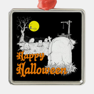 Ornement Carré Argenté Halloween do-it-yourself