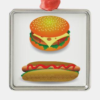 Ornement Carré Argenté Hamburger