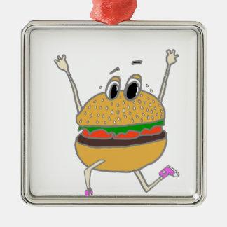 Ornement Carré Argenté hamburger courant