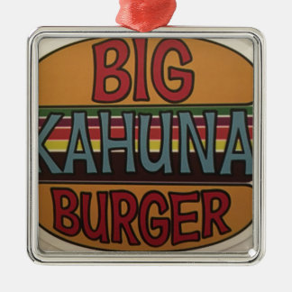 Ornement Carré Argenté Hamburger de Kahuna