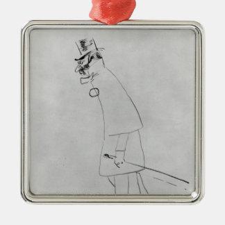 Ornement Carré Argenté Henri De Toulouse-Lautrec | un docteur de Chambre