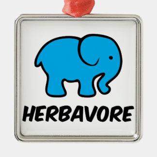 Ornement Carré Argenté Herbavore