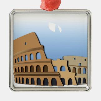 Ornement Carré Argenté Histoire antique Italie de Colisé de Coliseo Roma