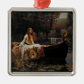 Ornement Carré Argenté Histoire de fantôme celtique de lac de Madame de