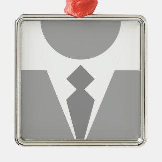 Ornement Carré Argenté Homme d'affaires