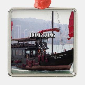 Ornement Carré Argenté Hong Kong : Ordure chinoise