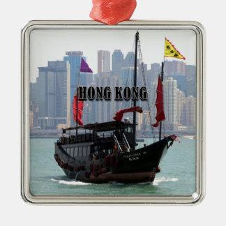 Ornement Carré Argenté Hong Kong : Ordure chinoise 2