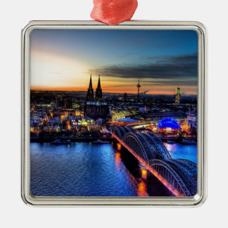 Ornement Carré Argenté Horizon de Cologne Allemagne