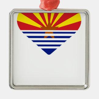 Ornement Carré Argenté I coeur Arizona