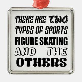 Ornement Carré Argenté Il y a deux types de patinage artistique de sports
