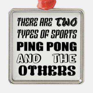 Ornement Carré Argenté Il y a deux types de ping-pong et de d'autres de