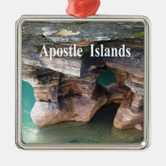 Ornement Carré Argenté Îles d'apôtre