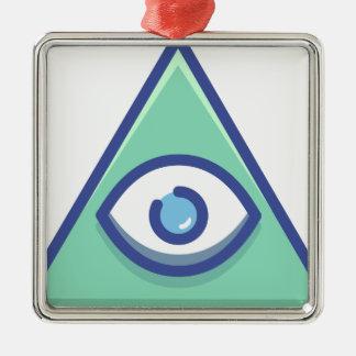 Ornement Carré Argenté Illuminati
