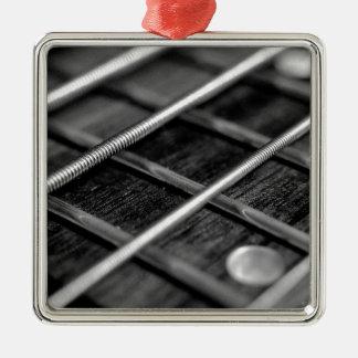 Ornement Carré Argenté Instrument de bruit de roche de musique de guitare
