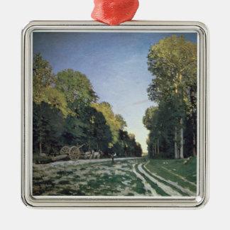 Ornement Carré Argenté Itinéraire de Chailly, Fontainebleau de Claude