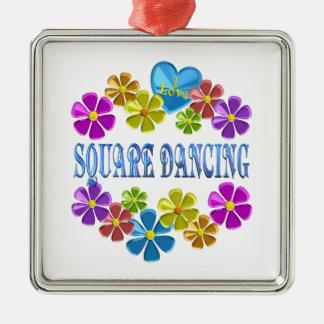 Ornement Carré Argenté J'aime la danse carrée