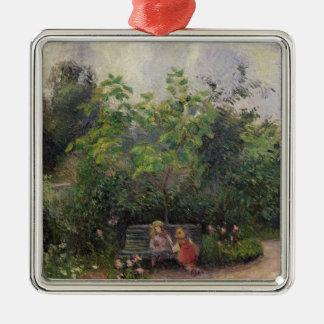 Ornement Carré Argenté Jardin de Camille Pissarro | à l'ermitage