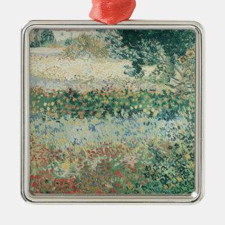 Ornement Carré Argenté Jardin de Vincent van Gogh | en fleur, Arles, 1888