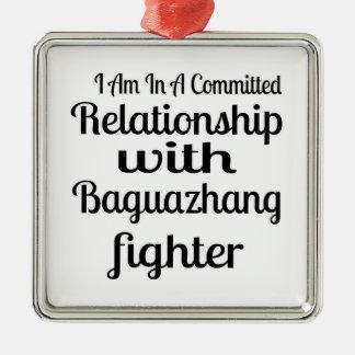 Ornement Carré Argenté Je suis dans un rapport commis avec Baguazhang F