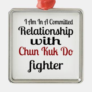Ornement Carré Argenté Je suis dans un rapport commis avec Chun Kuk fais