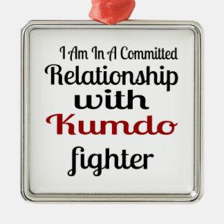 Ornement Carré Argenté Je suis dans un rapport commis avec Kumdo Fighte
