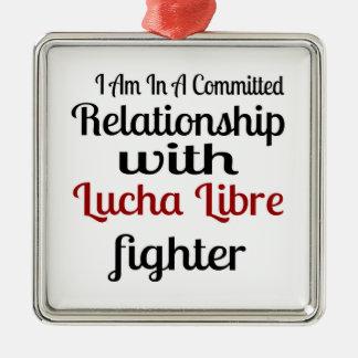 Ornement Carré Argenté Je suis dans un rapport commis avec Lucha Libre