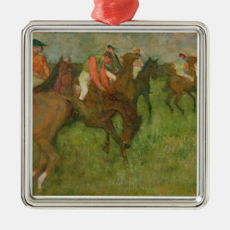 Ornement Carré Argenté Jockeys d'Edgar Degas  , 1886-90