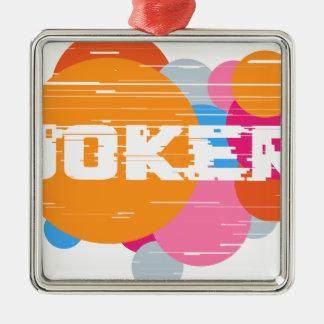 Ornement Carré Argenté Joker