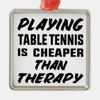 Ornement Carré Argenté Jouer au ping-pong est meilleur marché que la