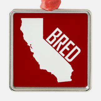 Ornement Carré Argenté La Californie a multiplié