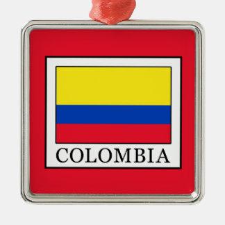 Ornement Carré Argenté La Colombie