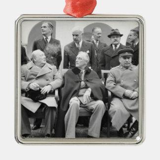 Ornement Carré Argenté La conférence de Yalta