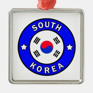 Ornement Carré Argenté La Corée du Sud