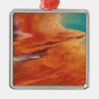 Ornement Carré Argenté la couleur mélangent dedans la palette de natures
