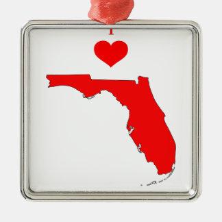 Ornement Carré Argenté La Floride